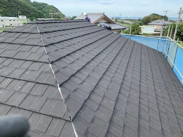セネターの施工途中の屋根