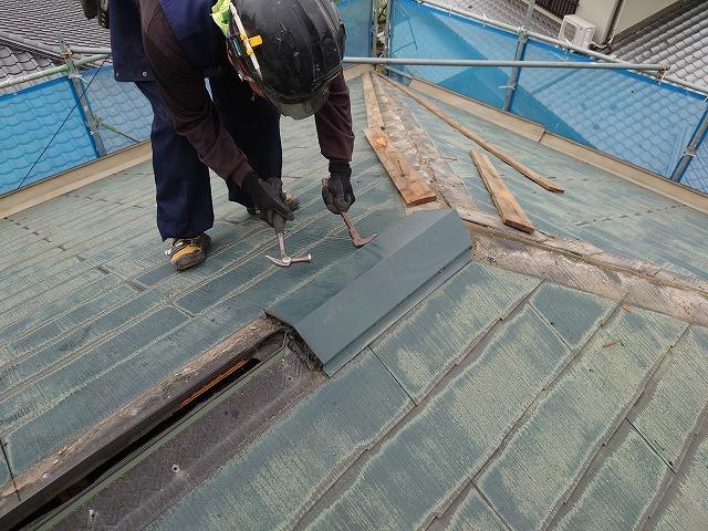 棟板金の解体撤去