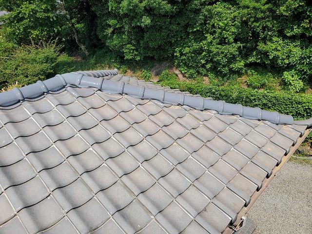 7寸丸瓦の寄棟屋根
