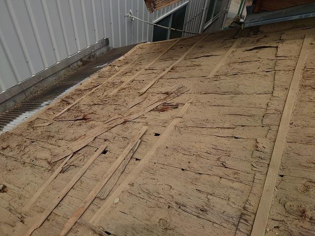 杉皮の下葺材