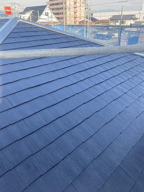 屋根塗装したコロニアル屋根