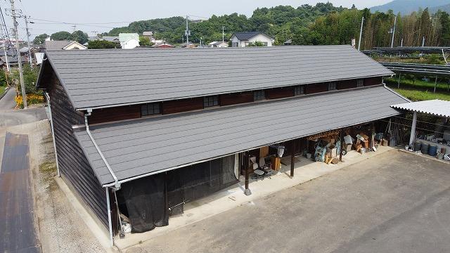 今治市で災害に強いセネターで屋根リフォーム工事完成しました