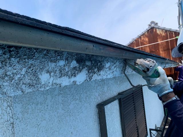雨樋吊り金具の撤去