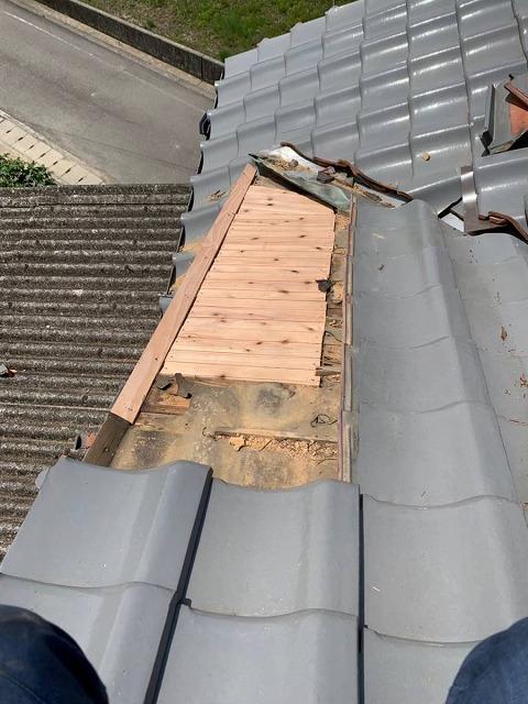 屋根下地の補修