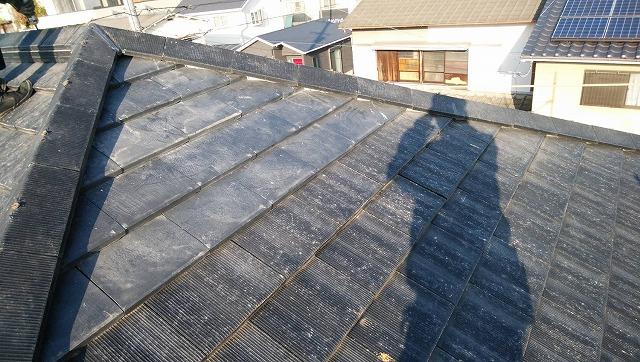 セメント瓦の屋根工事