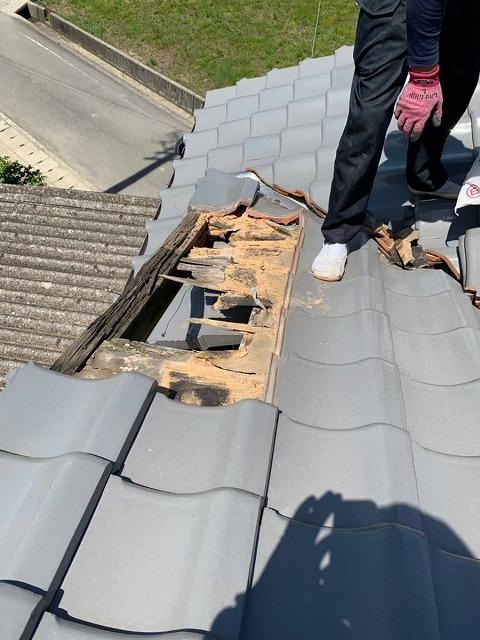 ケラバの雨漏り被害