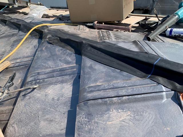 隅棟の防水シート