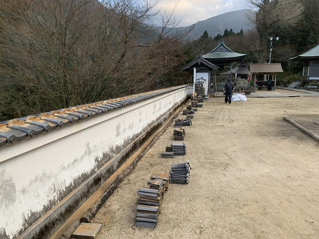 塀瓦の棟解体