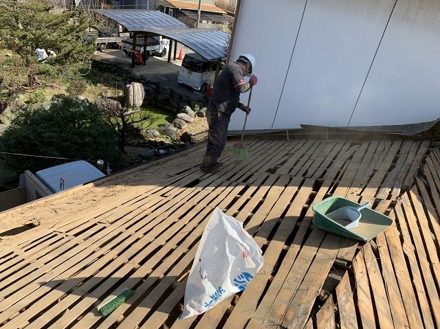 古い屋根下地の状況