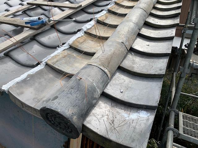 風切り丸の施工