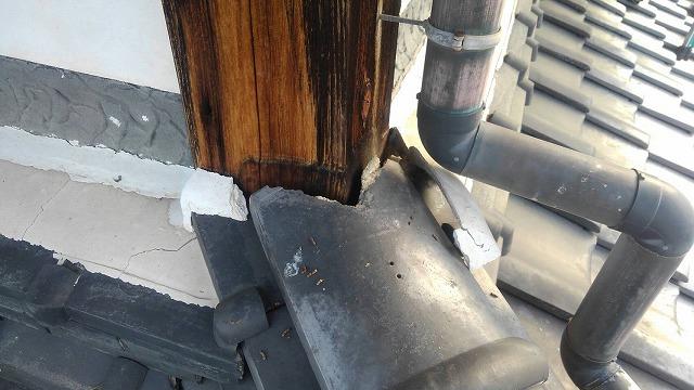 隅棟の修理工事