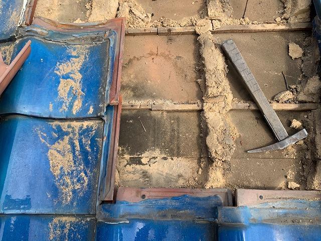 釉薬瓦の雨漏り