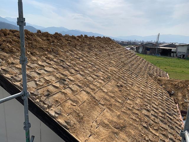 釉薬瓦下の葺き土
