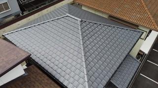 陶器平板瓦屋根