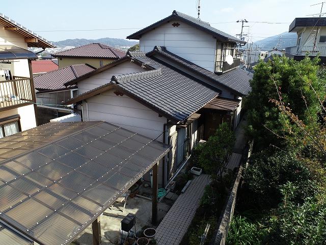 屋根塗装したばかりの和型スレート屋根