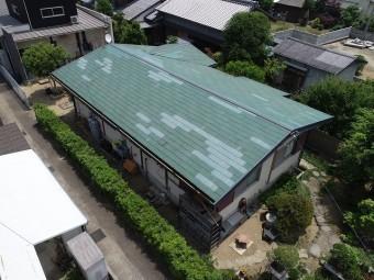 スレート屋根の全体写真