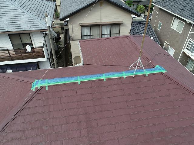 今治市唐子台で強風で飛んだ棟板金を火災保険を利用して屋根修理