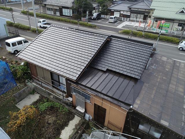 陶器平板瓦への屋根葺き替え工事