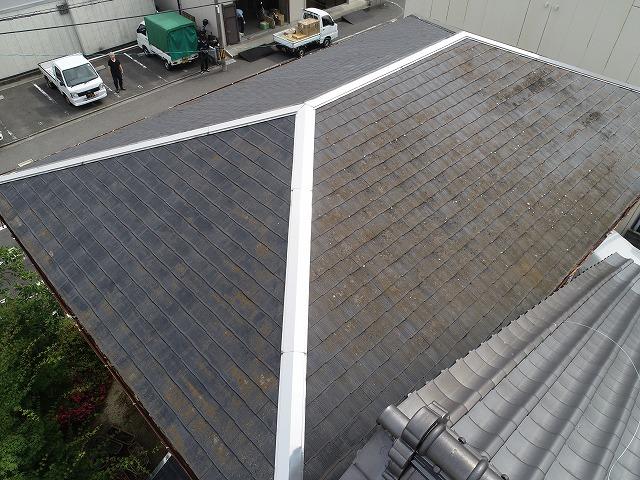 ドローンによるコロニアル屋根の全景