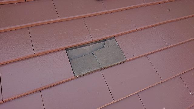 四国中央市金生町にて塗装工事中に瓦が割れたと連絡があり瓦交換