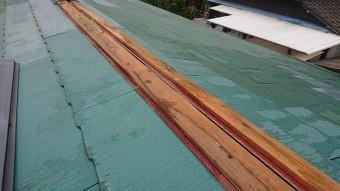 棟板金の笠木の状況