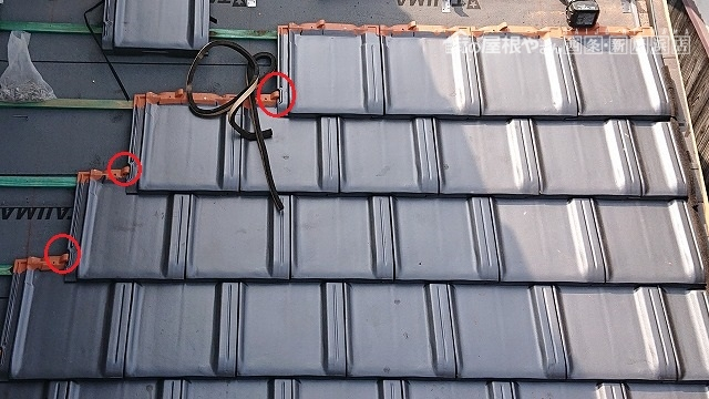 平板瓦の施工写真