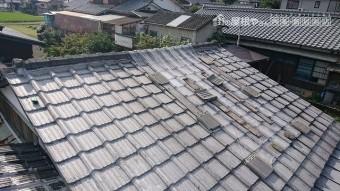 雨漏りのする和室の上の屋根