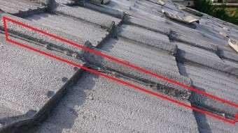 セメント瓦側面のコーキング