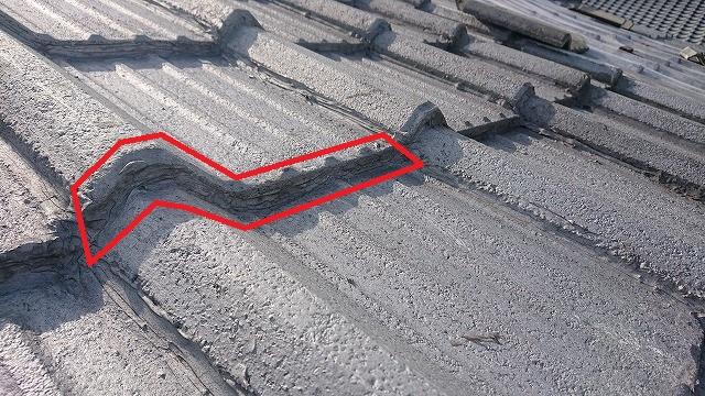 セメント瓦木口のコーキング