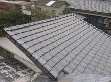 屋根葺き替え工事の完成
