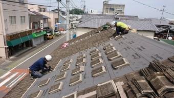 セメント瓦の復旧