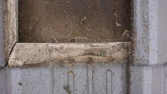 瓦の重なり部に溜まったゴミ