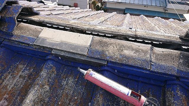 セメント瓦修理