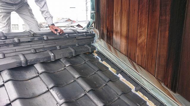 菊間瓦屋根の雨漏り