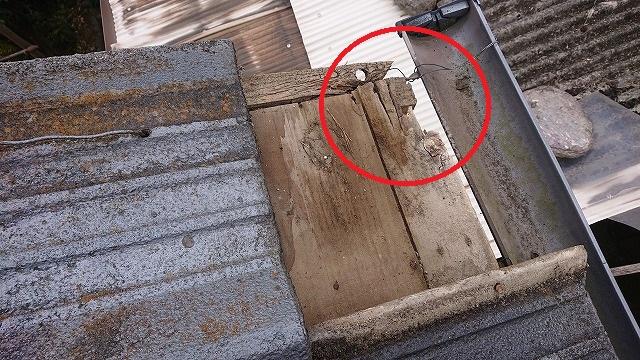 雨漏りによる木部の腐食