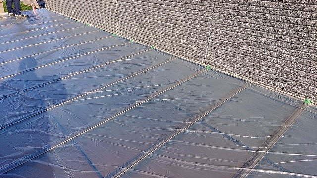 屋根の養生