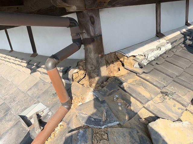 隅棟の雨漏り原因