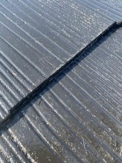 屋根塗装後のコロニアルの木口