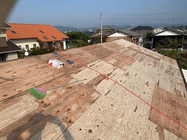 構造用合板の屋根下地