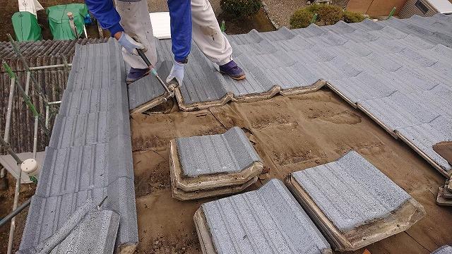 セメント瓦の解体撤去
