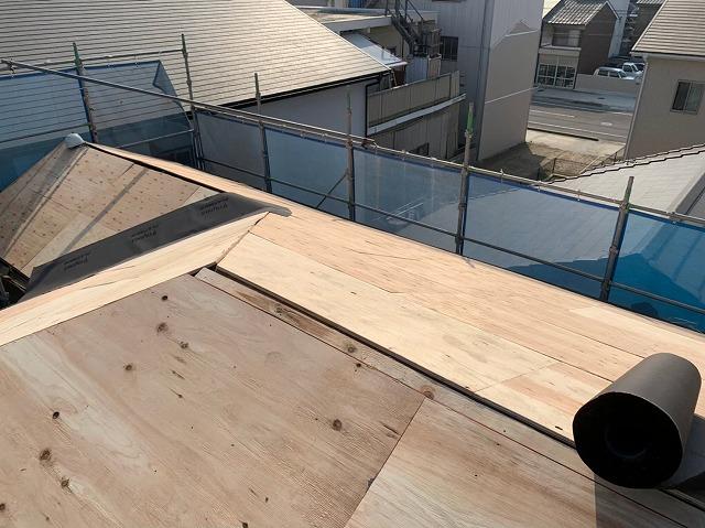 構造用合板の張り増し完了