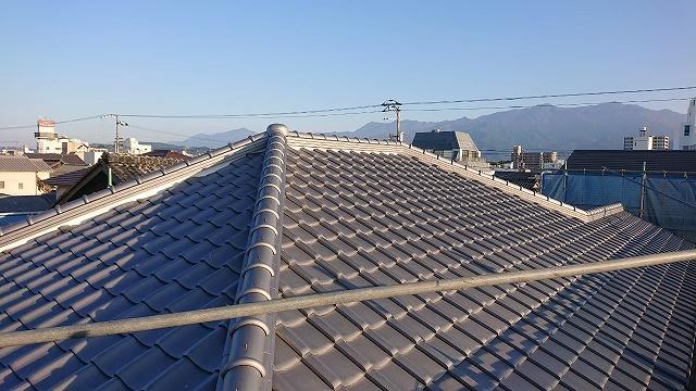 屋根リフォーム完了の写真