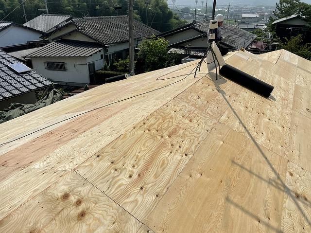 構造用合板の増し張り完了