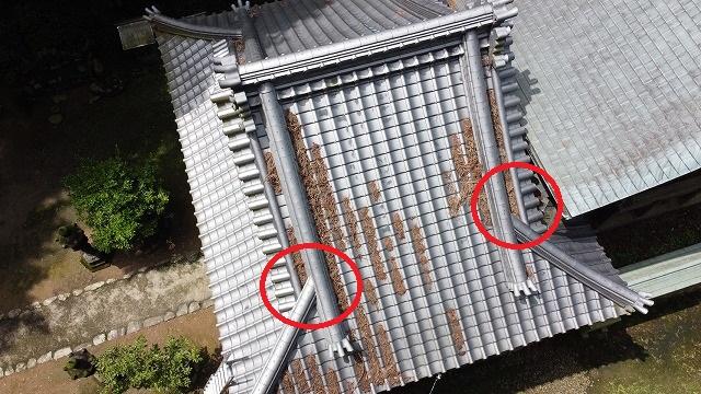 西条市にて台風に備え、屋根の点検・掃除をしました!!