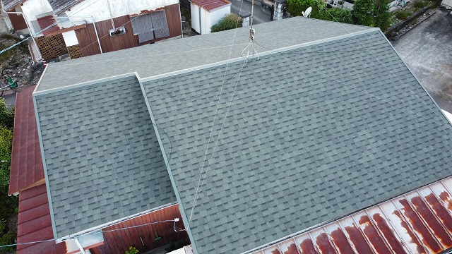 リッジウェイ施工後の屋根