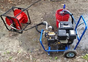 15MPaもの水圧をかけることができる高圧洗浄機